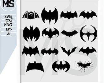 70 % OFF, Batman svg, Batman Silhouettes, Vector art, instant download, Digital Cut, Print Files, Svg Files dxf, eps, Ai, png