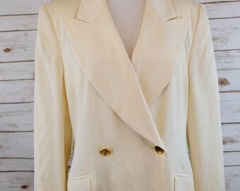 Clearance Vintage Escada White Blazer