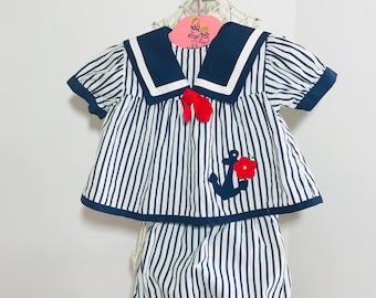 Vinatge Baby Sailor Set