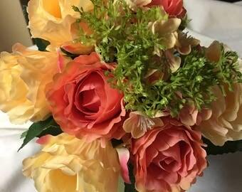peach bouquet. diy