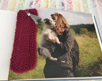 Bookmarks ~ hand knit