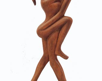 The Lovers, Hand-crafted Suar Wood from Mas, Bali, Indonesia