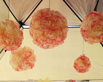 Hand dyed and painted Pomanders or kissing ball Lanterns