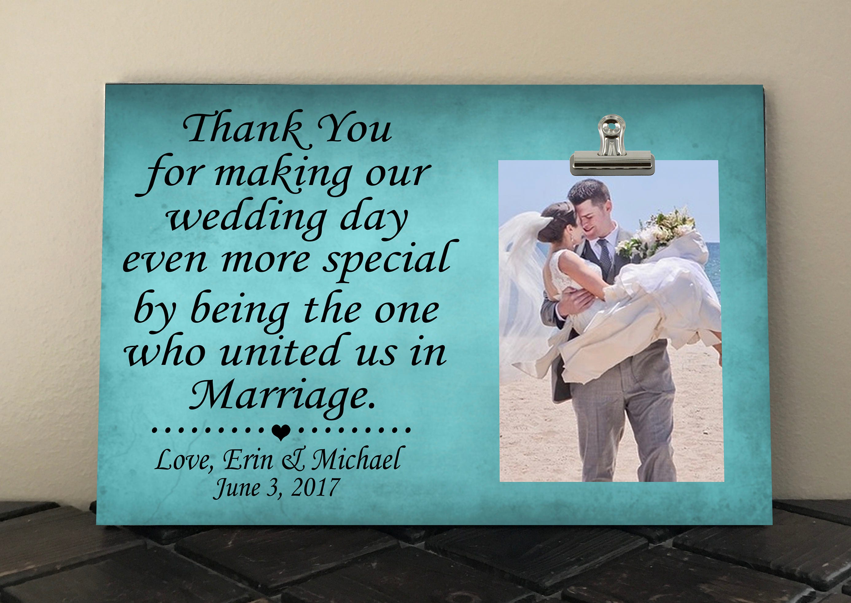 Wedding Officiant Gift Ideas: WEDDING OFFICIANT GIFT Free Design Proof And Personalization