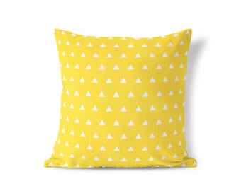 Yellow Pillow - Modern Yellow Pillow - Modern Farmhouse - Modern Home Decor -  Decorative Pillow - Textured Pillow - Accent Pillow