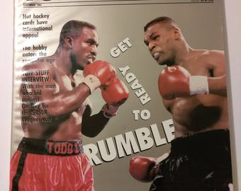 Vintage Tuff Stuff Large Edition Holyfield vs Tyson Price Guide Magazine