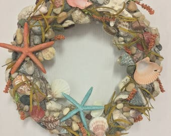Starfish and Shells Wreath