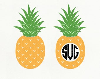 Pineapple SVG Files, Pineapple dxf, png, eps, Silhouette Studio, Cut File
