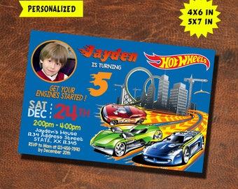 Hot Wheels Invitation / Hot Wheels Birthday / Hot Wheels Party / Hot Wheels Invite / Hot Wheels Birthday Invitation / Hot Wheel Party Invite