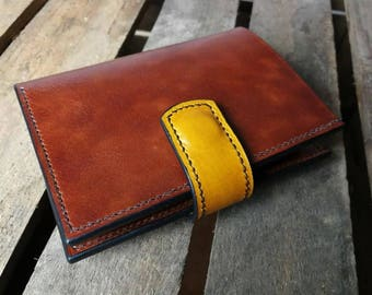 Mens Wallet with Coin Pocket-Brown Handmade  Leather Wallet for Her-Coin Purse Bifold Wallet-Brown Real Leather Wallet-Genuine Leather-Gift