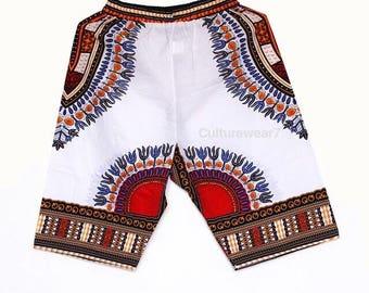 Dashiki Shorts White