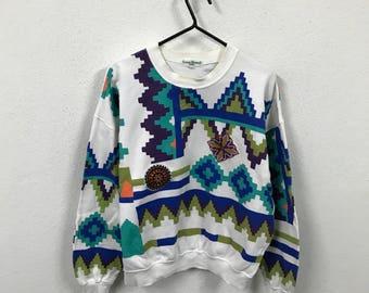 Louis Feraud Abstract Graphic Sweatshirt