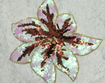 DIY sequin patches/colorful embroidery maple leaf style sequin patches/embroidery applique  for shirt/dress/bag accessories