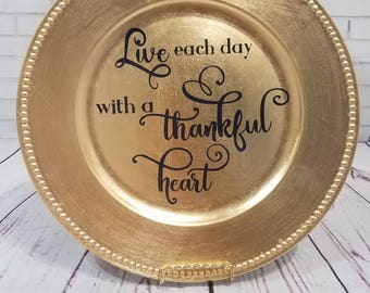 Thankful Heart Charger Plate