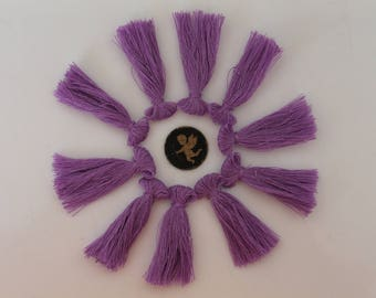 10 purple a tassel fringe - 40 mm - jewelry - bracelet - handmade - lilac