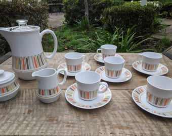 Mid Century Modern Percolator Tea Set