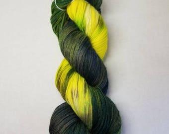 Hand dyed yarn MCN Fine Merino Wool,  Cashmere, Nylon indie yarn