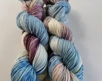 Merino silk indie dyed yarn  dk hand dyed yarn  dk merino silk hand dyed indie dyed yarn