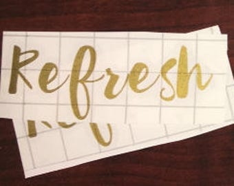 Refresh LABEL ONLY