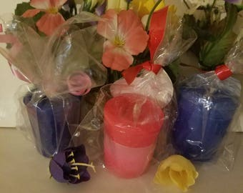 Gorgeously home made and hand poured votive candles cherry,Jasmine vanilla, and lilac