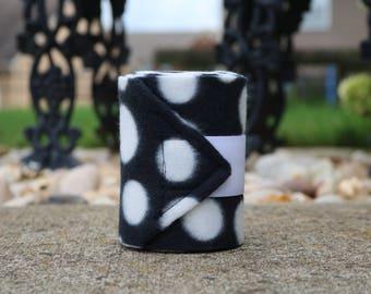 Perfect Polo Wraps - Black and White Dot