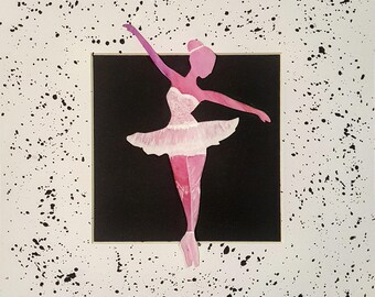 Watercolor/ Acrylic Painting: Dancing Silhouette