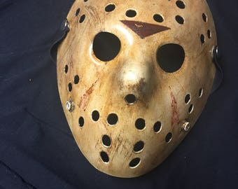 6 - Jason Voorhees Friday the 13th Custom Mask from Movie # 6 Part 6 Replica Jason Lives