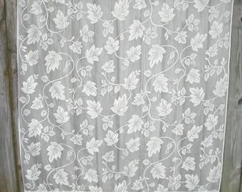 Off White Lace Curtain, Shabby Chic, Cottage Chic, Vines