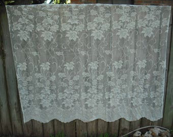 sale 209c ornate ivory extra long vintage lace shower curtain shabby chic
