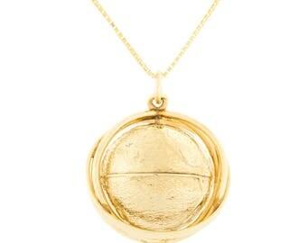 14K Globe Charm or Pendant