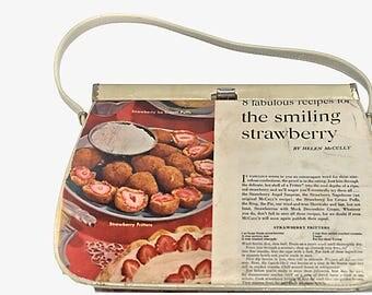The Smiling Strawberry - Vintage McCalls Magazine Shoulder Bag