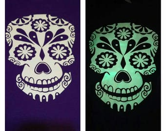 Glow in the dark sugar skull