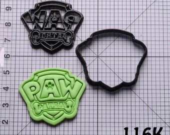 Paw Patrol Cookie Cutter Paw Patrol Fondant Cutter Paw Patrol Birthday Gift Paw Patrol Gift Paw Patrol Party