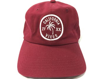 Maroon 420 CaliVices Dad Cap