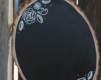 Chalkboard Wood Slice