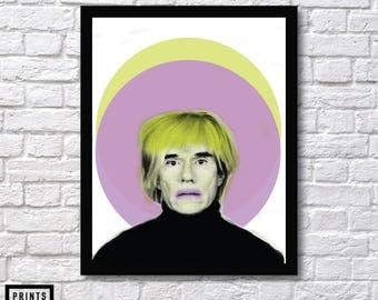Andy Warhol, Abstract Art, Andy Warhol Room Decor, Andy Warhol Art Print, Home Wall Art, Andy Warhol Prints, Pop Art Print, Modern Art Print