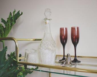 Vintage Glasses Lowball Glasses Vintage Bareware Retro Barware Mid Century Barware Boho Decor Glassware Bar Cart Accessories Tumblers