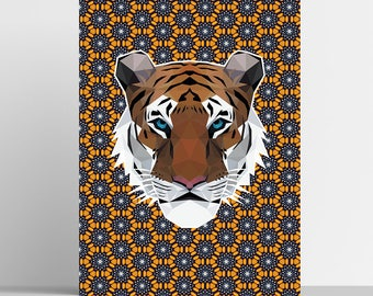 Tiger Print - Geometric Print - Original Design - Animal Print