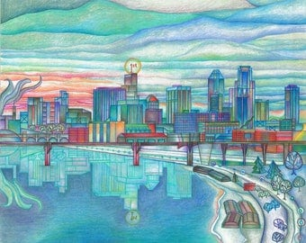 Spring Thaw in St. Paul Archival Print - 8.5x11 in