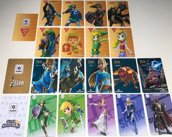 Zelda Amiibo Cards FREE SHIPPING All 18 PVC Nfc Cards Fierce Deity Majora's Mask Ocarina of Time Switch Full Listing