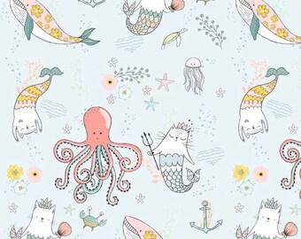 Kitty Mermaid Baby Blanket