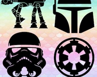 20 Star Wars Images Light Saber Storm Trooper Darth Monogram Images Svg Cut Files Silhouette Studio Cricut Svg Dxf Png digital art