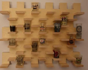 Shot Glass Display Case Wall Mount