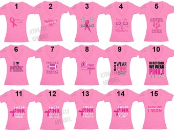 Free Shipping Breast Cancer Awareness Fight Tackle Love Cure Save Rack October Pink Support Ribbon Survivor T-shirt