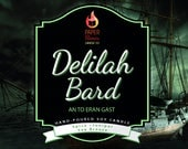PRE ORDER *** Delilah Bard - Hand-Poured Soy Wax Candle Inspired By The Darker Shades Of Magic Series