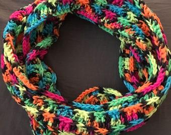 Crochet Confetti Infinity Scarf