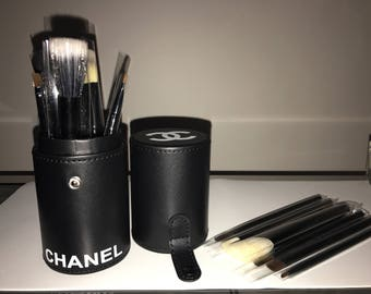 Leather Makeup Brush Holder with 12 Brushes Included ! - Designer Inspired