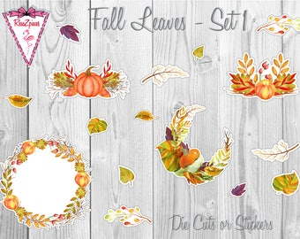 Fall Leaves - Die Cut / Sticker Sets