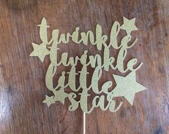 Twinkle twinkle little star,  cake topper