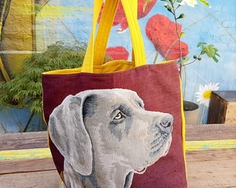 "Tapestry tote bag and fabric ""Oh my dog!"""